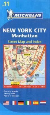Michelin Map 11 New York City: Manhattan By Michelin Travel & Lifestyle (COR)